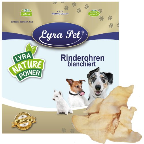 200 Lyra Pet Rinderohren blanchiert