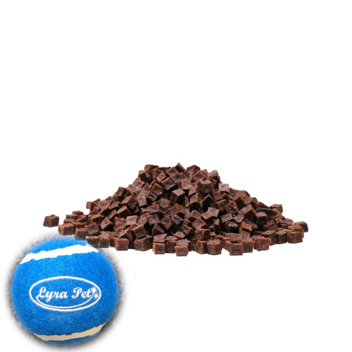 5 kg Lyra Pet® Rindfleischwürfel + Tennis Ball